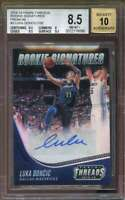 Luka Doncic 2018-19 Panini Threads Rookie Signatures #3 BGS 8.5 (9.5 8 9.5 9.5)