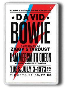 DAVID BOWIE MAGNET!1973 DAVID BOWIE OLD CONCERT POSTER! JUMBO SIZE FRIDGE MAGNET