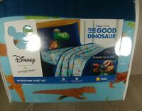 "Microfiber Bed Sheet 4pc Set Disney Pixar The Good Dinosaur - 54"" x 75"" - Unisex"