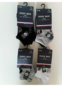 Lot 12 paires de socquette garçon Tonyby multicolor noir blanc & gris