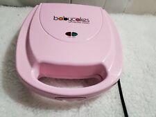 Babycakes Cupcake Maker 8 Mini Cakes, Non-stick, Pink, Model CC-2828