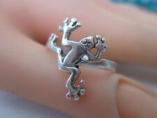 Silberring FROSCH  925er Silber  Design Ring RG 57 punziert