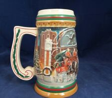 "1997 Budweiser Clydesdales Holiday Beer Stein ""Home For The Holidays"" CS313"