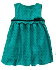 NWT Gymboree EMERALD PARTY Dress Holiday Christmas Green Baby Girls 3-6 M