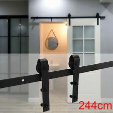 244cm Schiebetürsystem Laufschiene für Schiebetüren Beschlag Holzschiebetür