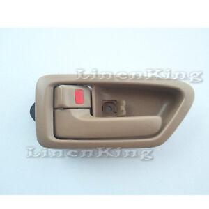 Inside Door Handle Front or Rear Left Side Bezel Tan Fit for 97-01 Toyota Camry