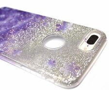 For iPhone 7 PLUS - Purple Snow Flake Glitter Sparkle Soft Rubber Silicone Case