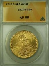 1910-S US St. Gaudens Double Eagle $20 Gold Coin ANACS AU-55 (WW)