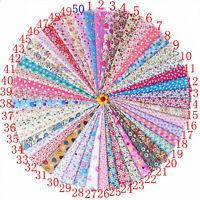 50pieces 20cmx30cm cotton fabric packs Square patchwork Bundles Sewing DIY craft