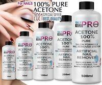 100% Pure Acetone Superior Quality Nail Polish Remover UV/LED GEL Soak Off UK
