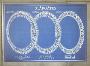 Stargate A3 schematic blueprint artprint poster,sg1,atlantis & universe