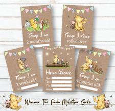 Winnie The Pooh Milestone Cards • Baby Shower Gift • New Baby Gift • Girl Unisex