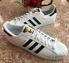 Adidas Originals Mens Superstar Shoes NEW White Black Trainers Sneakers Size 19