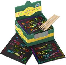 ZMLM Rainbow Scratch Art Mini Notes - 125 Magic Scratch Off Paper Note Pads for