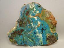 Parrot Wing Chrysocolla Malachite Unpolished Stone Lapidary Slab Cabbing Rock #5