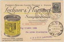 SAMPIERDARENA - FABBRICA BIACCHE VERNICI SMALTI LECHNER E MURATORI (GENOVA) 1920