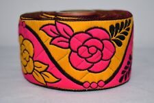 Indian Culture New Trims Border Antique Thread Work Lace Pink 1 Yard Ribbon