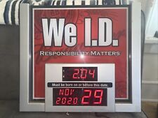 Budweiser We I.D. Bar Sign Legal Age / Responsibity Matters