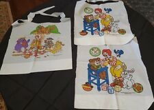 Lot of 3 MCDONALDS Plastic Bibs from the 1990's UNUSED jv