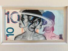 PENNY UK STREET ARTIST 10 POUND BOWIE BRIXTON BLUE STENCIL ORIGINAL ART