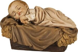 Christmas Baby Jesus in a Manger Set Christmas Ornament Traditional Christmas