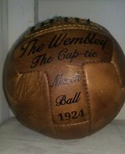 A Full Size Vintage Leather  'The Wembley Cup-tie' Football Ball