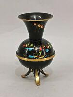 8633021 Messing Vase  Art deco um 1930 sign. Zabel Lackmalerei