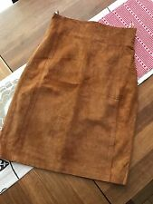 REAL SUEDE VINTAGE PENCIL WIGGLE SKIRT - SIZE Approx 8-10