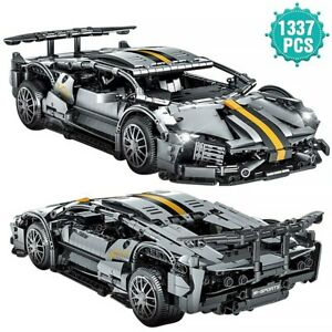 Building Blocks Super Car Sport Racing Vehicle Model Bricks Toys Birthday Gift