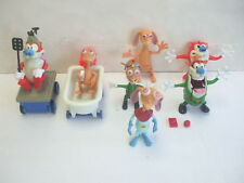 Vintage Mattel Ren & Stimpy Show - Loose Action Figures Lot In the Army & More