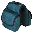 C-3742 Hilason Western Tack Horse Horn Bag Hunter Green Pockets