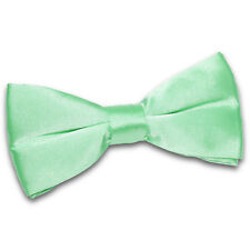 DQT Premium Satin Solid Plain Dickie Business Adjustable Pre-Tied Men's Bow Tie
