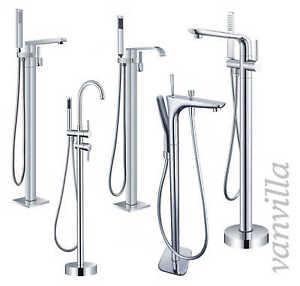 vanvilla Freistehende Standarmatur für Badewanne, Wannenarmatur stehend