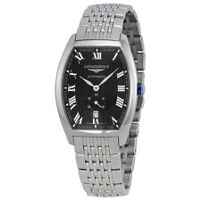 Longines Evidenza Automatic Black Dial Stainless Steel Mens Watch L2.642.4.51.6