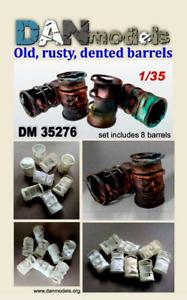 DAN Models 35276 Diorama accessories. Old, rusty, dented barrels 8 pieces 1/35