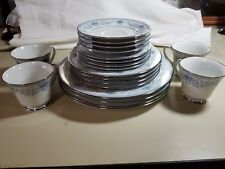 NORITAKE BLUE HILL 20 PIECE PLACE SETTING-SERVICE FOR 4