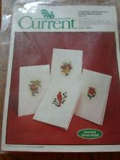 Current Cross-Stitch Christmas Cards-Cardinal, Bell, Ornament, Poinsettia