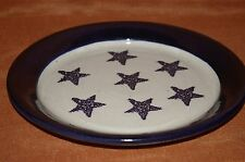 "LOT 2 MARSHALL TEXAS POTTERY STAR PLATES 9 3/8""D TURNED MASTER POTTER BILL COLE"