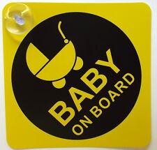 BABY ON BOARD SÉCURITÉ DES ENFANTS AVEC VENTOUSES VÉHICULE VOITURE PLAQUE NOËL