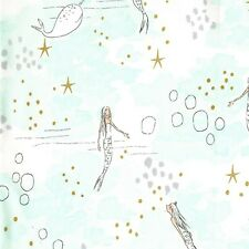 Fat Quarter Mermaid Magic Mist 100% Cotton Quilting Fabric Michael Miller