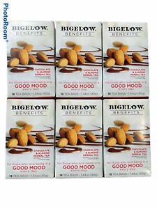 Bigelow Benefits Good Mood Chocolate & Almond Herbal Tea 18 Tea Bags (Pack Of 6)