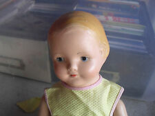"Vintage 1930s Effanbee Composition Cloth Girl Baby Dainty Girl Doll 14"" Tall"