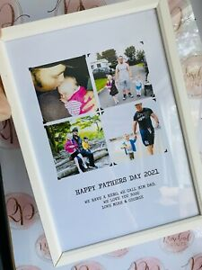CUTE FATHERS DAY GIFT A4 Present Birthday Personalised Photo Print Grandad Daddy