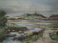 Original Framed Irish Art SCRABO FROM STRANGFORD LOUGH by Artist JACK CALDERWOOD