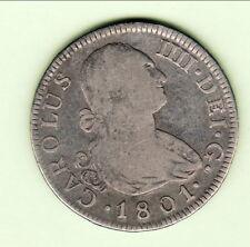 ESPAGNE (madrid ) 2 REALES 1801 CARLOS IIII