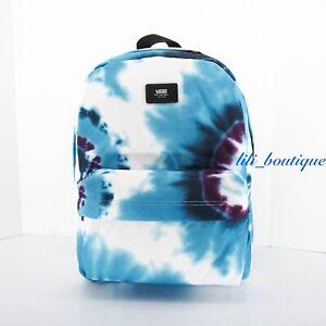 NWT Vans Old Skool III Backpack School Laptop Bag VN0A3I6RYQU Tie-Dye Blue Multi