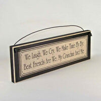 BEST FRIEND GRANDMA signs grandmother plaques gifts for grandparent Mother's Day