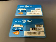 Lot Of 2 New At&T Prepaid Go Phone 3G Sim Card Oem Dell Mf324