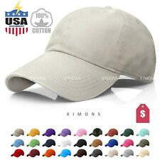 Polo Style Cotton Baseball Cap Ball Dad Hat Adjustable Plain Solid Washed Men