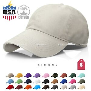 Polo Style Cotton Baseball Cap Ball Dad Hat Adjustable Plain Solid Washed Men PC